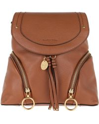 See By Chloé - Olga Backpack Medium Leather Caramel - Lyst