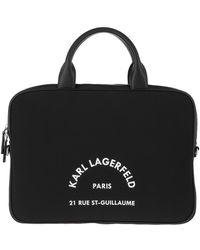 Karl Lagerfeld Rue St Guillaume Laptop Sleeve Bag Black - Noir