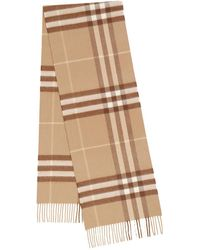 Burberry The Classic Check Cashmere Scarf - Natur