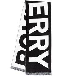 Burberry Text Football Scarf - Noir