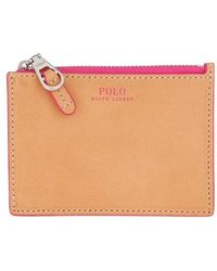 Polo Ralph Lauren Small Zip Credit Card Case - Pink