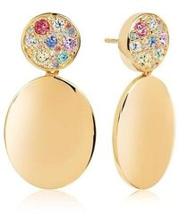 Sif Jakobs Jewellery Novara Uno Grande Earrings Multicoloured Zirconia - Métallisé