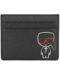Karl Lagerfeld Ikonik Outline Cardholder Wallet - Noir