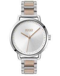 HUGO Quartz Watch Mellow - Metallic