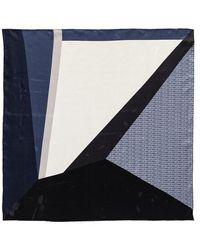 Coccinelle Colour Block Foulard Scarve - Bleu