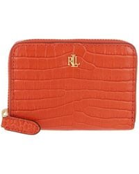 Lauren by Ralph Lauren Small Zip Wallet Sailing Orange