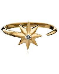Rachel Jackson London Shooting Star Diamond Adjustable Ring - Métallisé