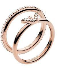 Emporio Armani Ladies Ring - Métallisé
