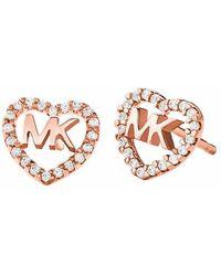 Michael Kors MKC1243AN791 Hearts Earrings - Métallisé