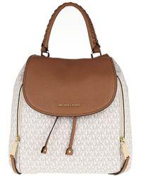 Michael Kors - Viv Lg Backpack Vanilla/Acorn - Lyst
