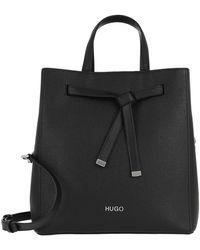 HUGO Victoria Drawstring Bag Black - Noir