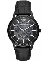 Emporio Armani 's Automatic Three-hand Stainless Steel Watch A - Black