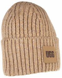 UGG Women Chunky Rib Beanie Trimmings - Neutre