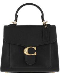 COACH Mixed Leather Tabby Top Handle 20 Black - Noir
