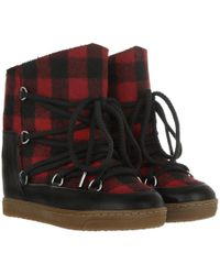 Étoile Isabel Marant - Nowles Boots Red - Lyst