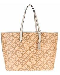 Calvin Klein Shopping Bag with Laptop Pouch - Neutre