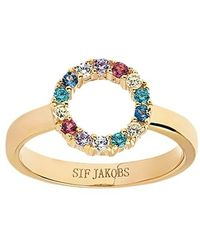 Sif Jakobs Jewellery Biella Piccolo Ring Multicoloured Zirconia - Métallisé