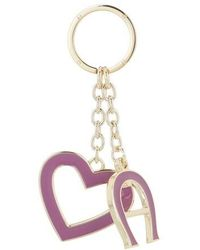 Aigner Fashion Keychain Heart - Rouge