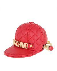 Moschino Cap Keychain Logo Red - Rouge