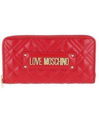 Love Moschino - Portafogli Quilted Nappa Wallet - Lyst