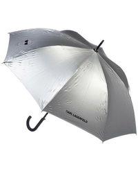 Karl Lagerfeld K/Ikonik Metallic Umbrella - Mettallic