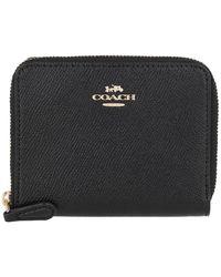 COACH Small Zip Around Wallet Black - Schwarz