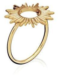 Rachel Jackson London Sunrays Adjustable Ring - Métallisé