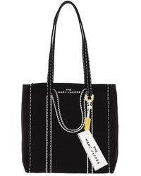 Marc Jacobs The Trompe L'Oeil Tag Tote Bag Black Multi - Noir