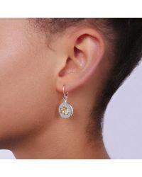 Lauren by Ralph Lauren Earrings Drop Two Tone - Metallic