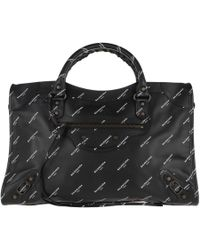Balenciaga - Calssic City Tote Leather Black - Lyst
