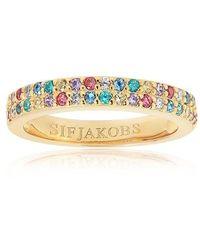 Sif Jakobs Jewellery Corte Due Ring Multicoloured Zirconia - Métallisé