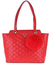 Guess - Astrid Tote Red - Lyst