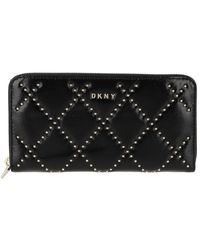 DKNY Sofia Zip Around Bag Black Gold - Noir