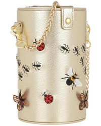Pepfer - Insect Embroidery Handbag Gold - Lyst