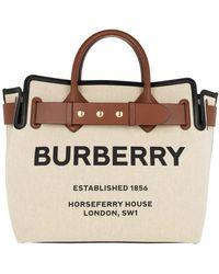 Burberry The Medium Belt Bag aus Baumwollcanvas mit Ziernieten - Braun