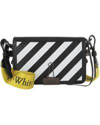 Off-White c/o Virgil Abloh Diag Mini Flap Crossbody Bag Black White - Noir