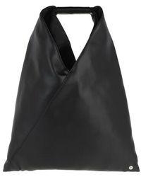 MM6 by Maison Martin Margiela Small Japanese Hobo Bag Nappa - Black