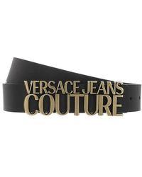 Versace Jeans Couture Logo Buckle Belt Leather - Noir
