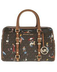 Michael Kors Medium Duffle Handbag - Marron