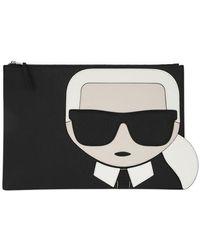 Karl Lagerfeld K/Ikonik Pouch - Noir
