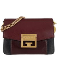 60153bbc5d13 Givenchy Ladies Aubergine Purple And Grey Gv3 Leather And Suede ...