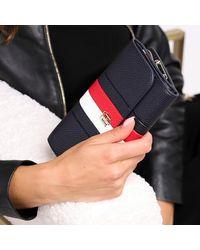 Tommy Hilfiger Th Essence Large Flap Wallet - Blauw