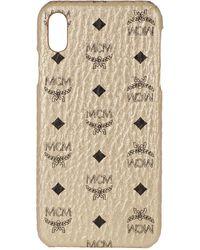 MCM Visetos Original Iphone Case Xs Max Berlin Gold - Metallic