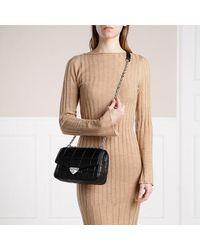Michael Kors Soho Large Chain Shoulder Handbag Leather - Zwart