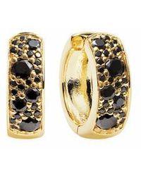 Sif Jakobs Jewellery Novara Circolo Earrings Black - Métallisé