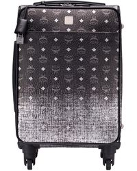 MCM Small Cabin Trolley Silver - Black