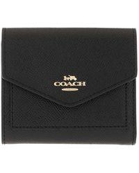 COACH Crossgrain Leather Small Wallet Li/black