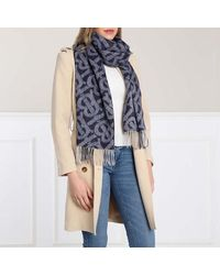 Burberry Reversible Scarf Cashmere - Blauw