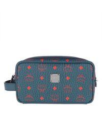 MCM Vis Original Wash Bag Deep Blu Sea - Blue