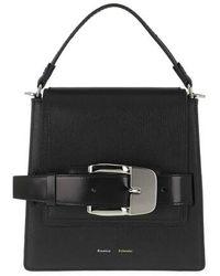 Proenza Schouler Buckle Trapeze Bag Calfskin - Noir